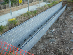 Retaining Wall Before Back Fill